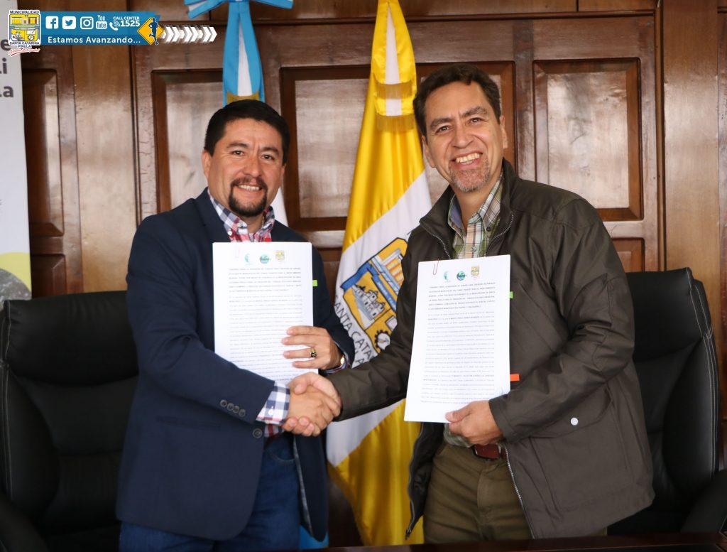 FIRMA DE NUEVO CONVENIO CON FUNDAECO Y LA MUNICIPALIDAD DE SANTA CATARINA PINULA